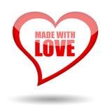 Effectué avec amour Images libres de droits