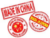 Effectué dans des estampilles de la Chine Photo libre de droits