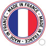 Effectué dans l'étiquette de circulaire de la France Photos libres de droits