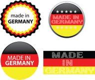 Effectué dans l'étiquette de l'Allemagne Images stock