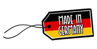 Effectué dans l'étiquette de l'Allemagne Photographie stock