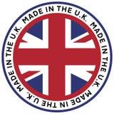 Effectué dans l'emblème BRITANNIQUE illustration stock