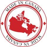 Effectué dans l'estampille du Canada illustration de vecteur