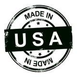 Effectué dans le tampon en caoutchouc des Etats-Unis Photographie stock