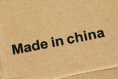 Effectué dans la porcelaine Photographie stock