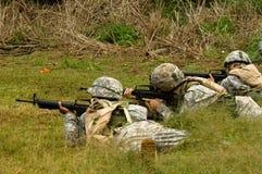 Effectuer d'un soldat Photo libre de droits