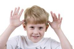 effectuer de visages d'enfant Images stock