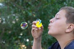 Effectuer des bulles Photos stock