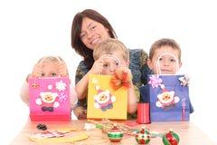 Effectuer des décorations de Noël images libres de droits