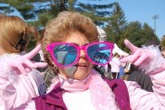 Effectuer des pas contre le cancer du sein Photo libre de droits