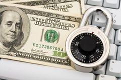 Effectuer les achats en ligne bloqués Photos stock