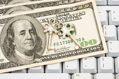 Effectuer les achats en ligne bloqués Images stock