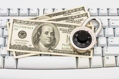 Effectuer les achats en ligne bloqués Images libres de droits