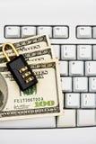 Effectuer les achats en ligne bloqués Photo stock