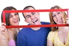 Effectuer les visages idiots Image stock