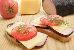 Effectuer un sandwich Photos stock