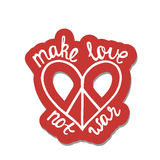 Effectuez l'amour, pas guerre Citation inspirée au sujet de paix Photographie stock