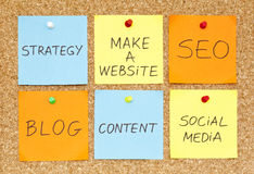 Effectuez un site Web Image stock