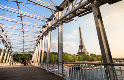 Effeil tower from Passerelle Debilly in paris Stock Images