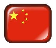 Effekt der China-Markierungsfahnen-Taste 3d getrennt im Weiß Lizenzfreie Stockfotografie