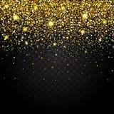 Effekt des Fliegens von Teilgoldfunkeln-Luxusreichen entwerfen Hintergrund Lizenzfreies Stockfoto