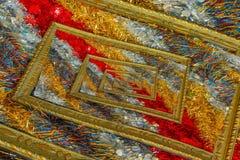 Effekt droste von schimmernden Weihnachtsdrähten Stockbild