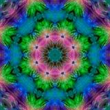 effekt för den karmosinröda mandalaen för kalejdoskopet färgade symmetrisk fractalbakgrund, härlig designmall stock illustrationer