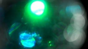 Effekt för Fuzy ljussnurr för bruk på bakgrund stock video