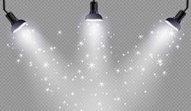 Effekt för genomskinlig för solljus för vektor ljus special signalljus för lins Fotografering för Bildbyråer