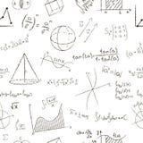 Effekt för kritateckning Matematikformler och grafer på royaltyfri illustrationer