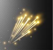 Effekt för magisk stjärna för abstrakt vektor glödande ljus från neonsuddigheten av krökta linjer Blänka slingan för stjärnadamm  Royaltyfri Fotografi