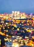 effekt för 50mm bakgrundsblur aktiverar sidan för nattnikkordeltagaren Nattljus i restaurang Arkivbilder