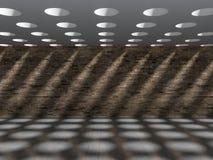 effekt för skugga 3D på väggen & golv Royaltyfria Bilder