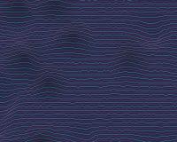 Effekt för tekniskt fel för vektorutjämnarefrekvens Bakgrund för distorsion Digital för solid våg stock illustrationer