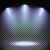 Effekt för tre strålkastare Arkivbild
