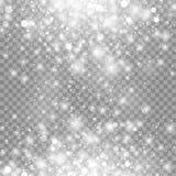 Effekt för vitt glöd för vektor isolerad magisk ljus på genomskinlig bakgrund royaltyfri illustrationer