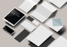 Effekt-Modell des Vektor-Geschäfts-Briefpapier-3D lizenzfreie abbildung