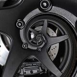Effekt-Musterhintergrund des Sportwagenautomobilkantenradzusammenfassung Fractal-Bremsscheibe-Reifenabschlusses hoher gewundener  stock abbildung