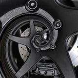Effekt-Musterhintergrund des Sportwagenautomobilkantenradzusammenfassung Fractal-Bremsscheibe-Reifenabschlusses hoher gewundener  lizenzfreie abbildung