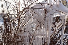 Effekte des Eisregens stockfotos