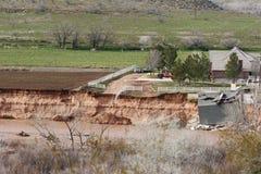 Effekte einer flutartigen Überschwemmung Lizenzfreies Stockfoto