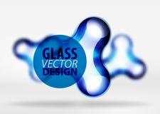 Effekter för bubbla för utrymme 3d för vektor digitala glass och metalliska, Arkivfoton