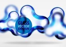 Effekter för bubbla för utrymme 3d för vektor digitala glass och metalliska, Fotografering för Bildbyråer