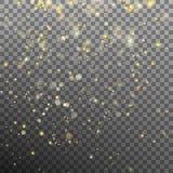 Effektgoldpartikel-Funkelnlicht Vektor ENV 10 Lizenzfreie Stockfotografie