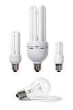 effektiv energilampa för kulor Arkivbilder