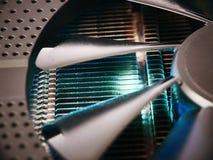 Effektiv kylsystem för elektroniska GPU- och CPU-processorer, Arkivfoton