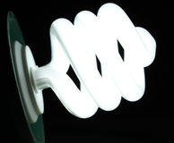 effektiv lampa för svart kula Arkivfoto