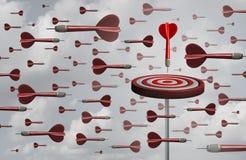 Effektiv målstrategi vektor illustrationer