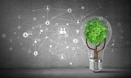 Effektiva innovationer för världsekologi Arkivfoto