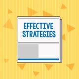Effektiva strategier för handskrifttext Beslut för taktisk intrig för begreppsbetydelseljud kraftiga fungerande royaltyfri illustrationer
